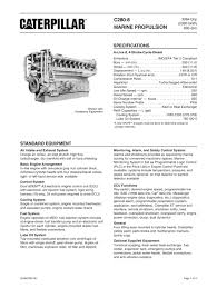cat c280 8 spec sheets caterpillar marine power systems pdf