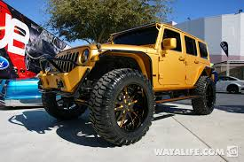 gold jeep wrangler 2012 sema ultimate auto gold 4 door jeep jk wrangler