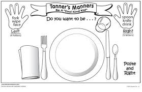 table manners for kids printable 8 best images of preschool manners coloring pages printable