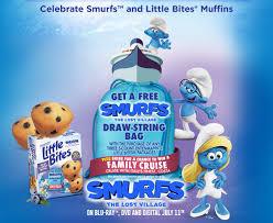 entenmann u0027s bites smurfs draw string bag offer familysavings
