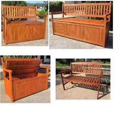 garden storage bench ebay