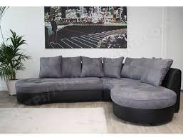 canapé d angle droit pas cher canapé microfibre ub design jade angle droit noir gris pas cher