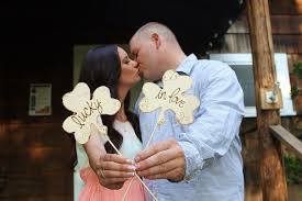 Engagement Photo Props Wedding Cake Toppers Photo Prop Shamrock Clovers Lucky In Love