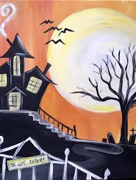 halloween painting party at bottleworks studiopm with natalie oct