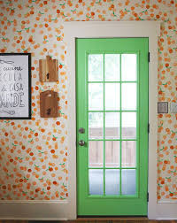 Wallpaper Designs For Kitchen Hand Stamped Clementine Wall U2013 A Beautiful Mess