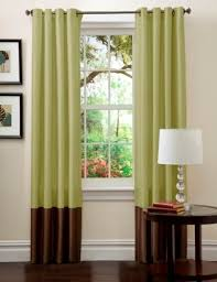Green And Brown Curtains Lush Decor Prima Window Curtain Panel Pair 84 Inch X