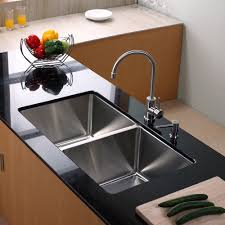 ceramic wide spread kitchen sink and faucet sets single handle