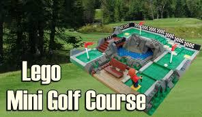 lego mini golf course youtube