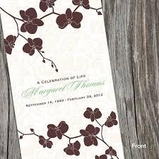 sle of funeral program 8 best funeral program images on memorial ideas