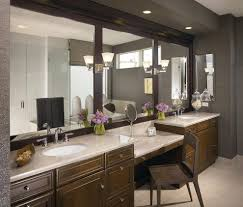 Bathroom Mirrors Chicago Chicago Makeup Vanity With Lighted Mirror Bathroom Contemporary