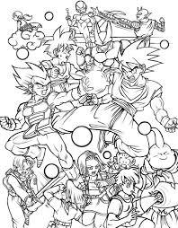 characters dragon ball free printable coloring