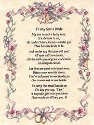 Wedding Wishes To Niece Mother To Son Wedding Day Poems To My Son S Bride My Son Is Such