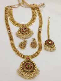 double necklace set images Double necklace sets design 62 vasthra jewels jpg