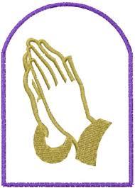 praying embroidery design annthegran