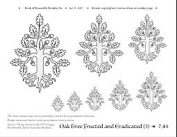 oak traceable heraldic art