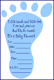 baby boy baby shower invitations free adorable baby shower footprint invitation