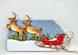 30 best cards santa s sleigh with reindeer images on