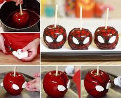 these are so cool spiderman candy toffee apple ingredients 1