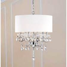 shade crystal chandelier white drum shade crystal chandelier with chandeliers pendant