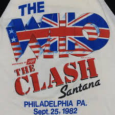 the who and the clash jfk stadium concert shirt 1982 wyco vintage