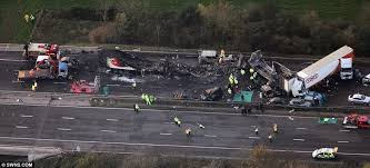 m5 crash at least seven dead and 51 injured in motorway incident