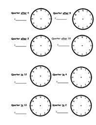 time worksheets o u0027clock half past quarter to quarter after