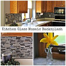 How To Install Glass Mosaic Tile Backsplash In Kitchen Serendipity Refined Blog Diy Updates Glass Mosaic Tile Kitchen