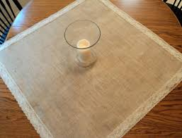 Lace Table Overlays Choose Your Size Square Burlap And Lace Table Overlays Wedding