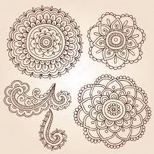 henna tattoo paisley flower doodles vector u2014 stock vector blue67