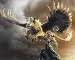 griffin and warrior by bobgreyvenstein on deviantart
