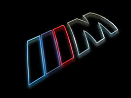 logo bmw bmw m logo as a colorful silhouette rendering with a glow against