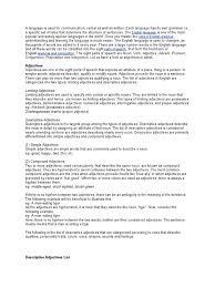 descriptive verbs doc part of speech english grammar