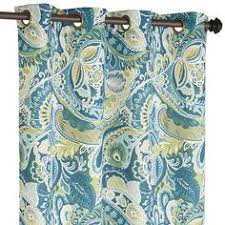 Gold And Teal Curtains Gold And Teal Ikat Aberdeen Cotton Curtains Set Of 2 Products