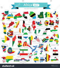 Gambia Africa Map by Africa African Map With Flags
