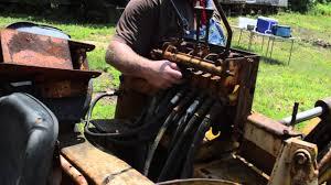 backhoe spool valve youtube