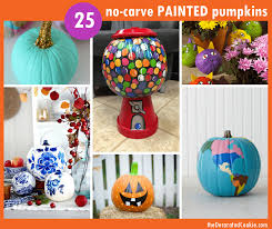 25 no carve painted pumpkins the decorated cookie