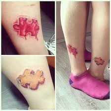 puzzle ankle couple tattoos best tattoo ideas gallery