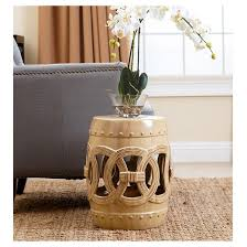 moroccan beige ceramic garden stool abbyson living target