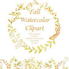 watercolor fall clipart clipartxtras