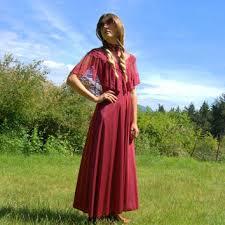 vintage dress 70 s slinky shop maroon boho dress on wanelo