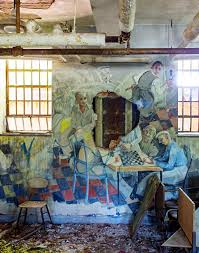 the remains of a home for the mentally ill graffiti and