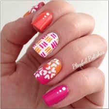 playful polishes mix u0026 match springtime nails