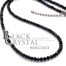 black necklace with crystal images Garage osaka rakuten global market men 39 s necklaces black jpg