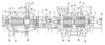 patent us6358004 steam turbine power generation plant and steam