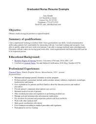exle rn resume new grad rn resume exles graduate templates exle nursing