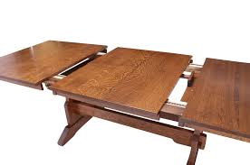 what is a trestle table franklin trestle table with butterfly leaf from simply amish furniture
