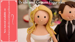 how to make bride and groom cake toppers youtube