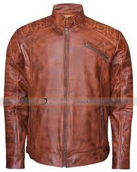 classic motorcycle jacket men u0027s distressed wax biker vintage cafe racer leather jacket