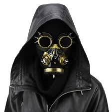 gas mask costume gold men women carnival makeup party gas mask steunk
