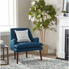 Blue Accent Chairs For Living Room Navy Blue Accent Chair Mid Century Tufted Free Shipping